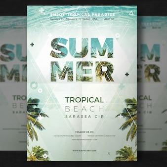 Folheto do partido de verão