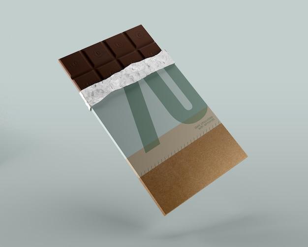 Folieverpakking voor mockup van chocoladetabletten