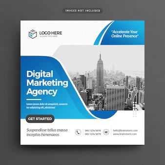 Folleto de agencia de marketing digital