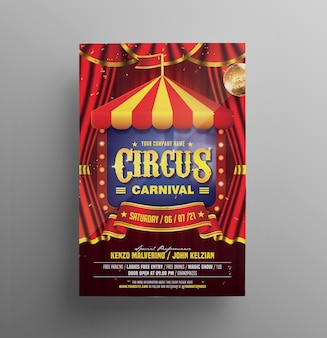 Folleto de carnaval de circo