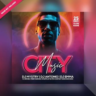 Folleto de city music party