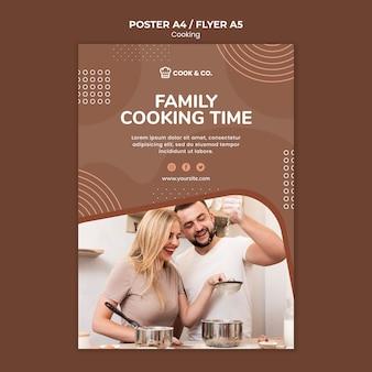 Folleto de cocina en casa plantilla