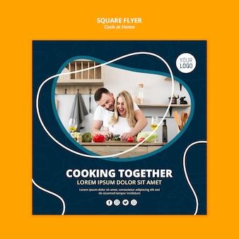 Folleto de cocina en casa