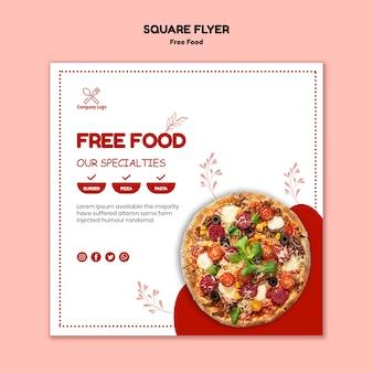 Folleto de comida gratis