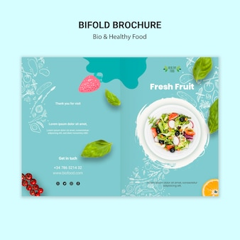 Folleto con concepto de comida saludable
