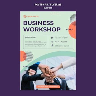 Folleto de concepto de taller de negocios