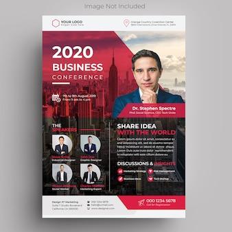 Folleto de la conferencia de negocios corporativos