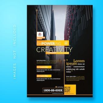 Folleto corporativo creativo