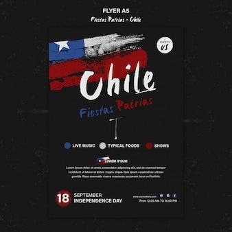 Folleto del día internacional de chile