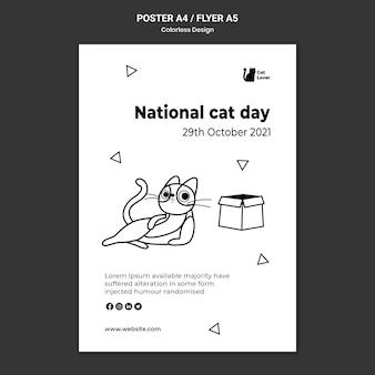 Folleto del día nacional del gato