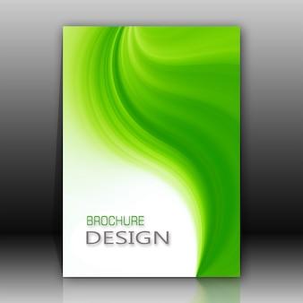 Folleto con diseño verde y blanco