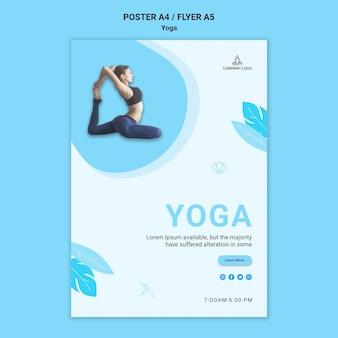 Folleto para ejercicio de yoga