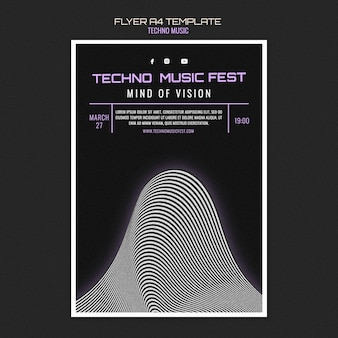 Folleto del festival de música tecno
