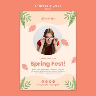 Folleto para el festival de primavera