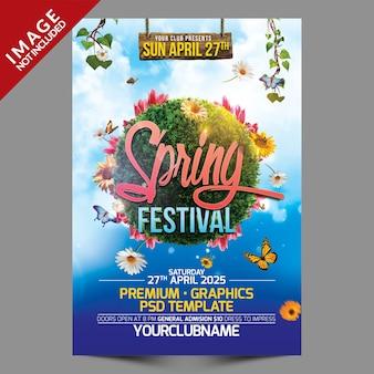 Folleto del festival de primavera