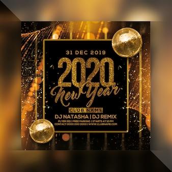 Folleto de fiesta de año nuevo 2020