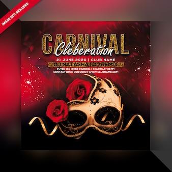 Folleto de fiesta de carnaval