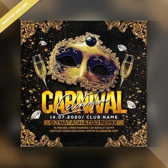 Folleto de fiesta de celebración de carnaval