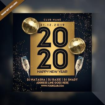 Folleto de fiesta de celebración de feliz año nuevo