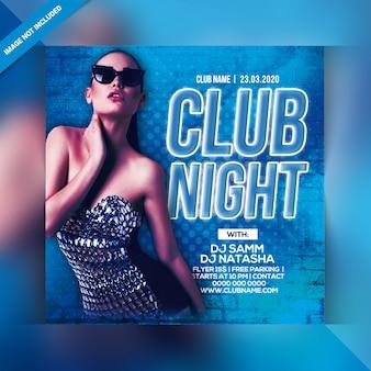 Folleto de fiesta del club nocturno