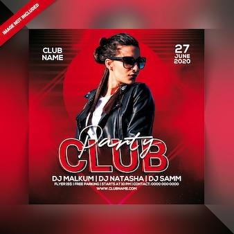 Folleto de fiesta del club