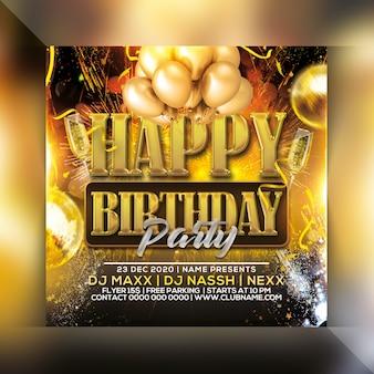 Folleto de fiesta de feliz cumpleaños