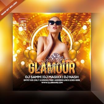 Folleto de fiesta glamour