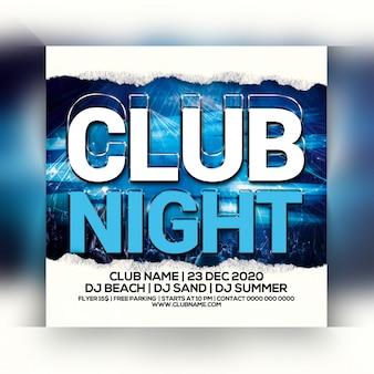 Folleto de fiesta de noche de club