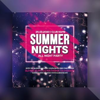 Folleto de fiesta de noche de verano