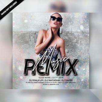 Folleto de fiesta de remix de música