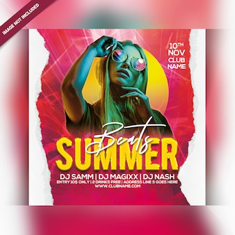 Folleto de fiesta summer beats