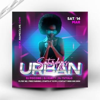 Folleto de fiesta urbana o plantilla de póster