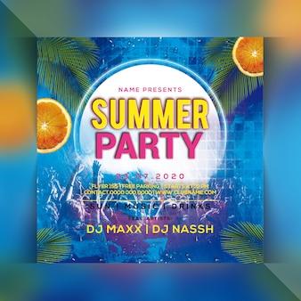 Folleto de fiesta de verano