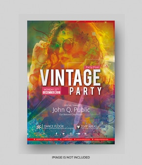 Folleto de fiesta vintage