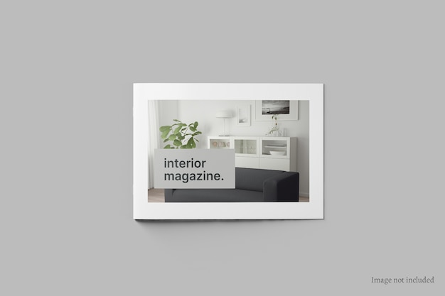 Folleto horizontal y maqueta de portada de catálogo vista superior