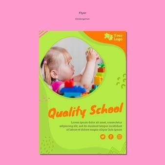 Folleto de jardín de infantes a5 con foto