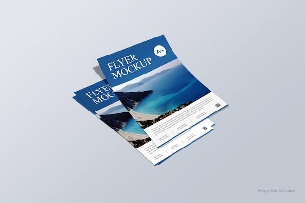Folleto y maqueta de póster, maqueta de factura y membrete, currículum y maqueta de papel a4