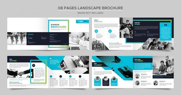 Folleto de negocios de landscape pages