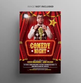 Folleto de noche de comedia