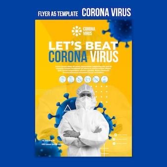 Folleto de la pandemia de coronavirus