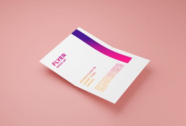 Folleto de papel maqueta premium psd