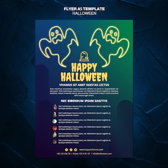 Folleto de plantilla de evento de halloween