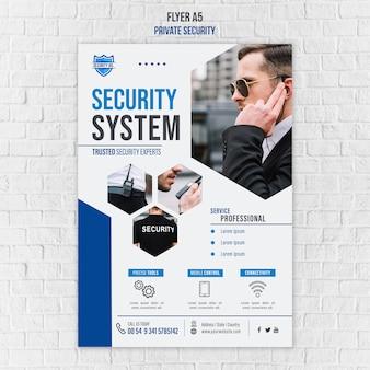 Folleto de plantilla de servicios de seguridad
