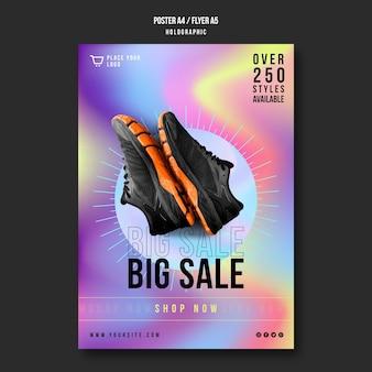 Folleto de plantilla de venta de zapatillas