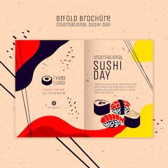 Folleto plegable del día de sushi