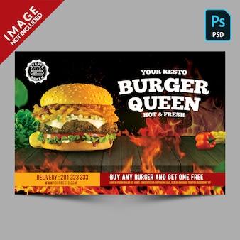 Folleto de promoción de hamburguesas