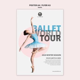Folleto para el rendimiento de ballet
