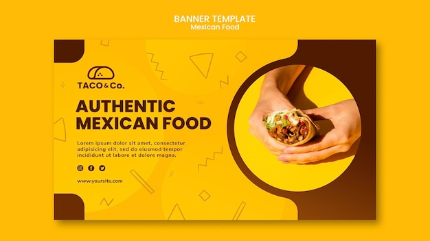 Folleto para restaurante de comida mexicana