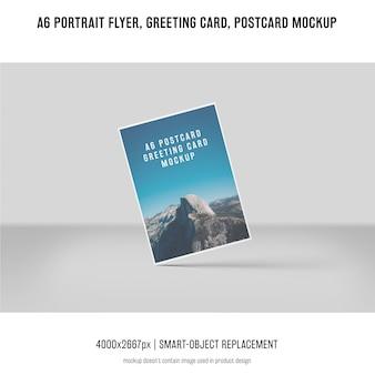 Folleto del retrato, postal, maqueta de la tarjeta de felicitación
