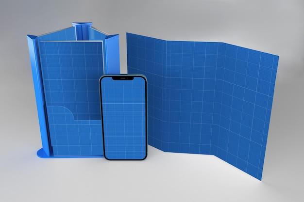 Folleto y smartphone